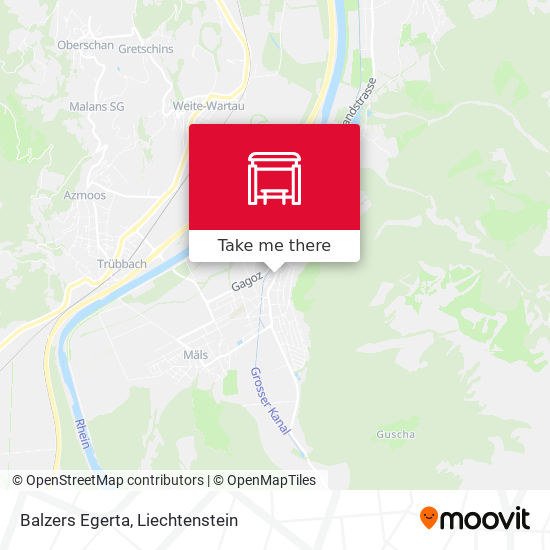 Balzers Egerta map