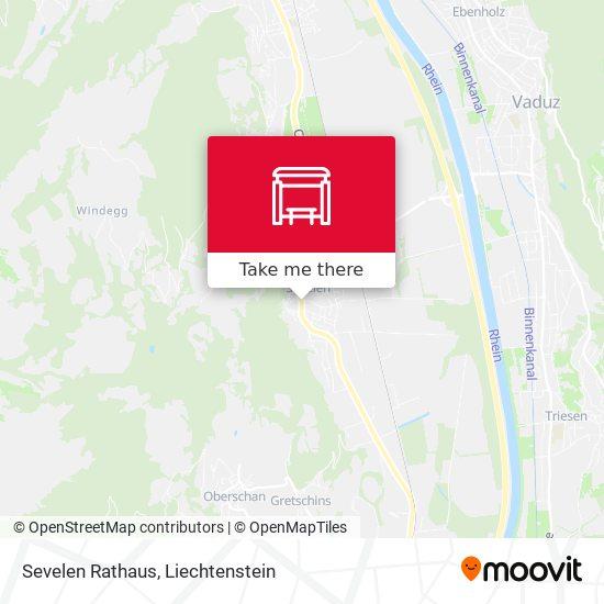 Sevelen Rathaus map