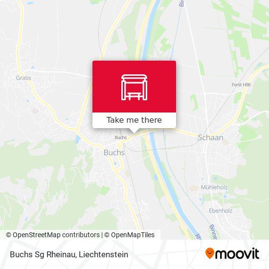 Buchs Sg Rheinau map