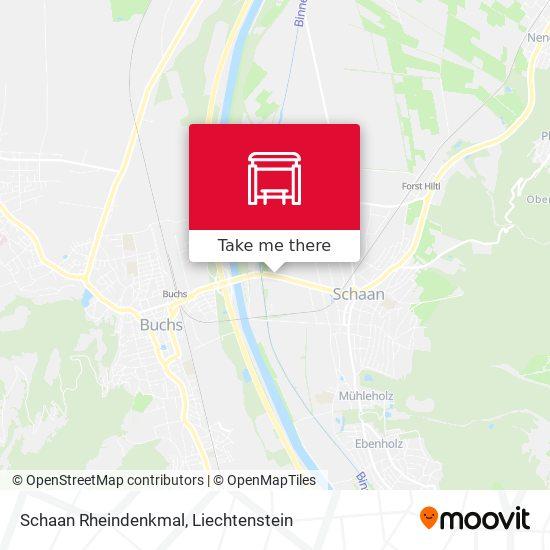 Schaan Rheindenkmal map