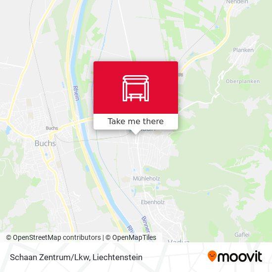 Schaan Zentrum/Lkw map