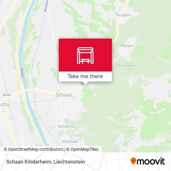 Schaan Kinderheim map