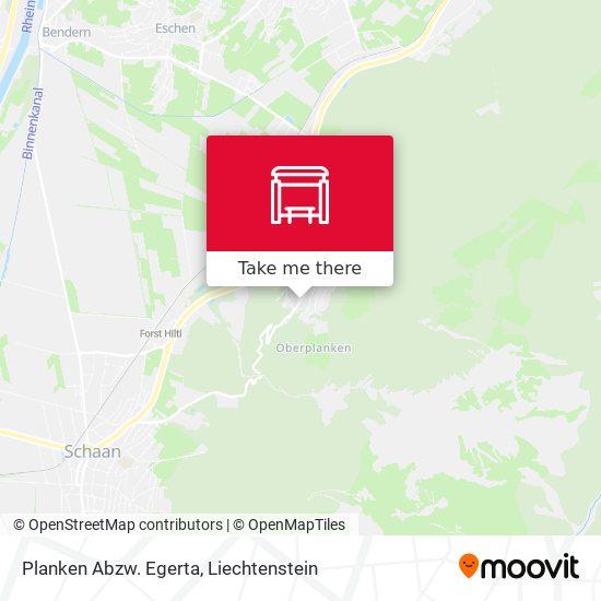 Planken Abzw. Egerta map