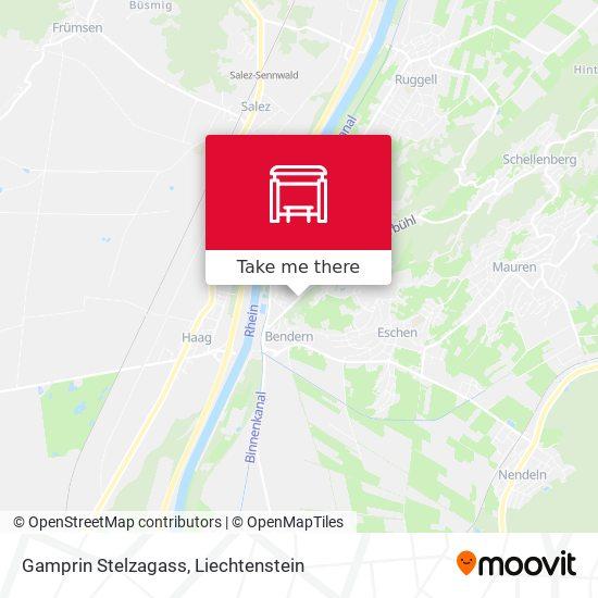 Gamprin Stelzagass map