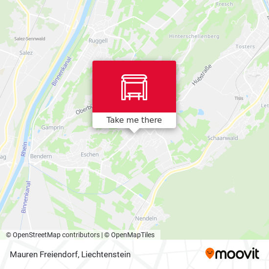 Mauren Freiendorf map