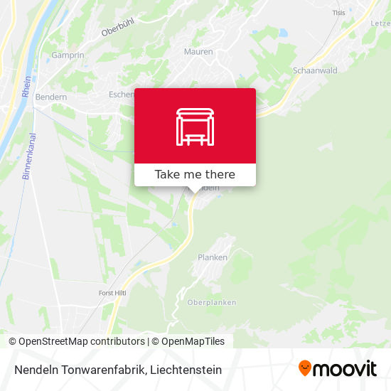 Nendeln Tonwarenfabrik map