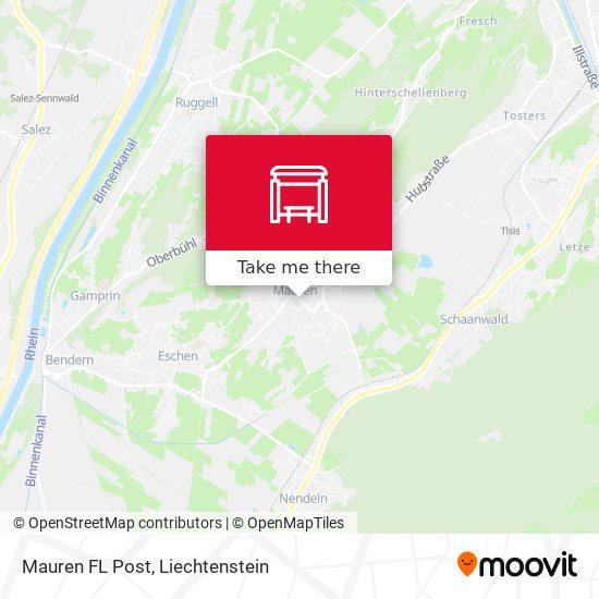 Mauren FL Post map