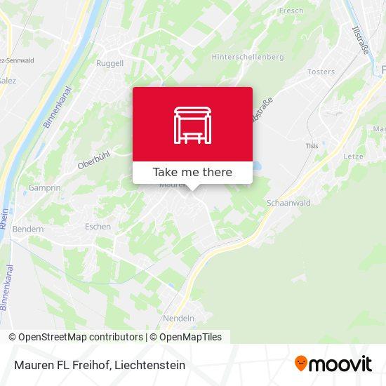 Mauren FL Freihof map