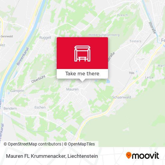 Mauren FL Krummenacker map