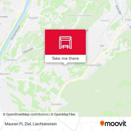 Mauren FL Ziel map