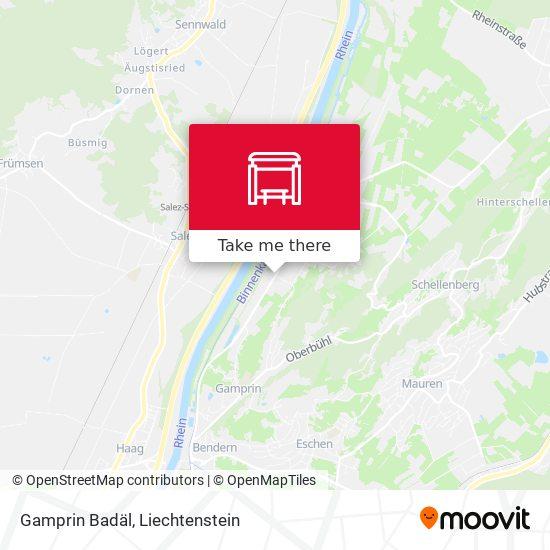Gamprin Badäl map
