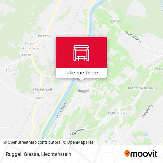 Ruggell Giessa map