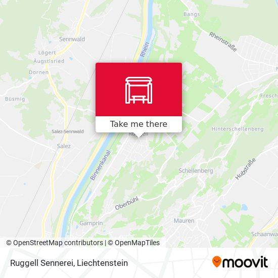 Ruggell Sennerei map