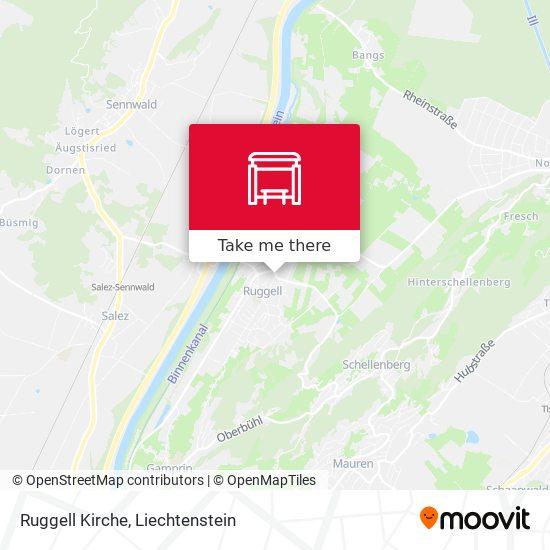 Ruggell Kirche map
