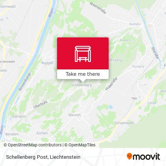 Schellenberg Post map