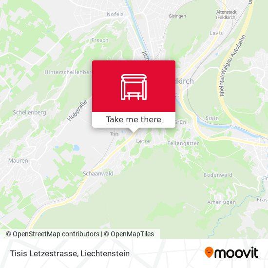 Tisis Letzestrasse map