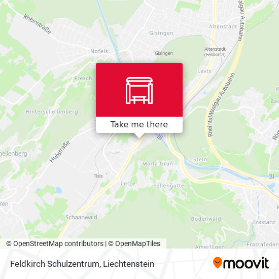 Feldkirch Schulzentrum map