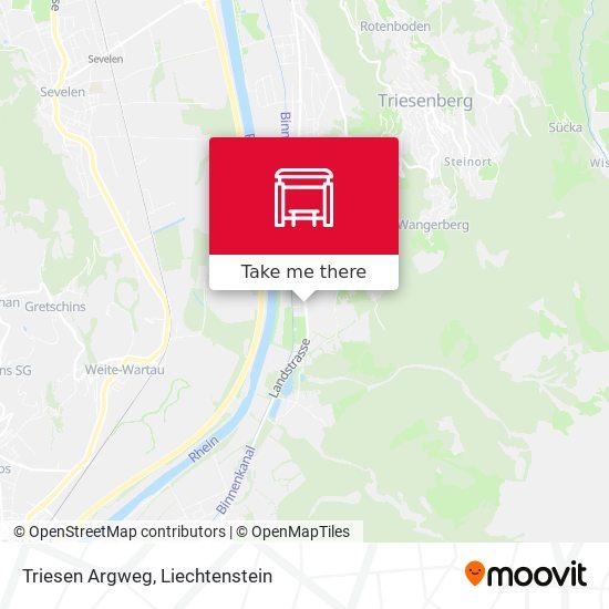 Triesen Argweg map