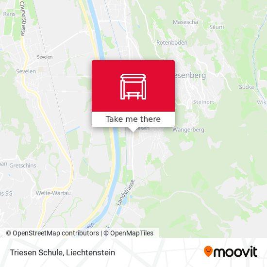 Triesen Schule map
