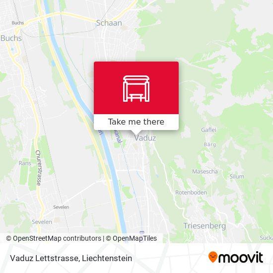 Vaduz Lettstrasse map