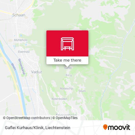 Gaflei Kurhaus/Klinik map
