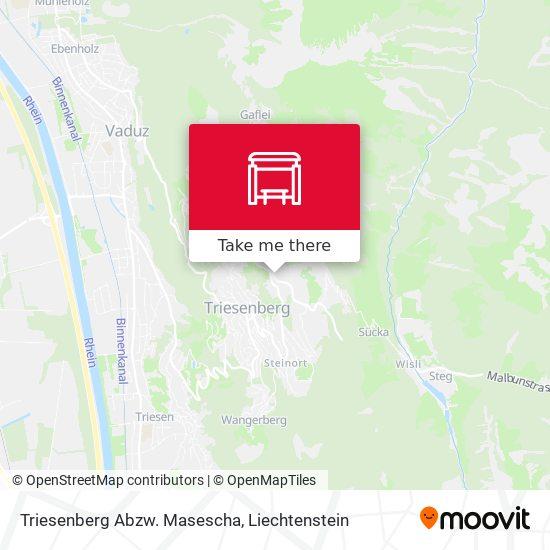 Triesenberg Abzw. Masescha map