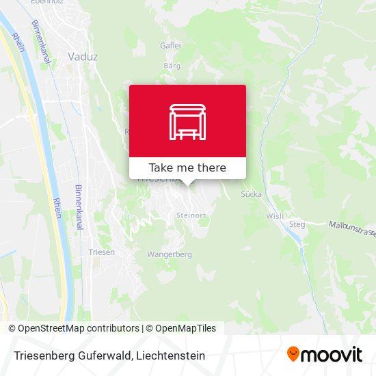 Triesenberg Guferwald map