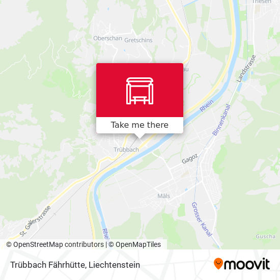Trübbach Fährhütte map
