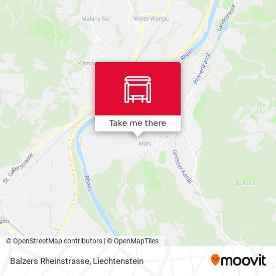 Balzers Rheinstrasse map