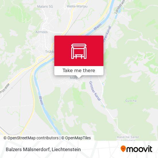 Balzers Mälsnerdorf map
