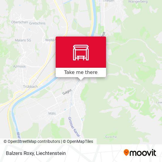 Balzers Roxy map