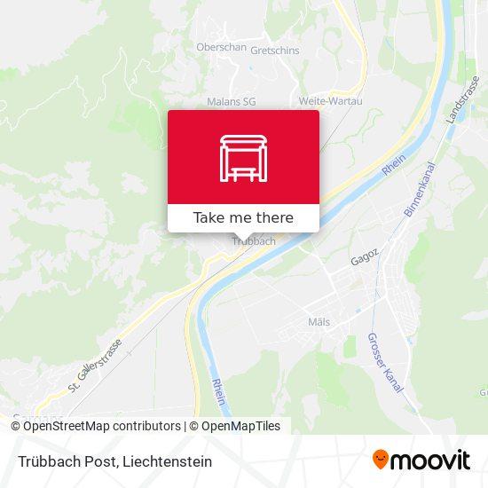 Trübbach Post map