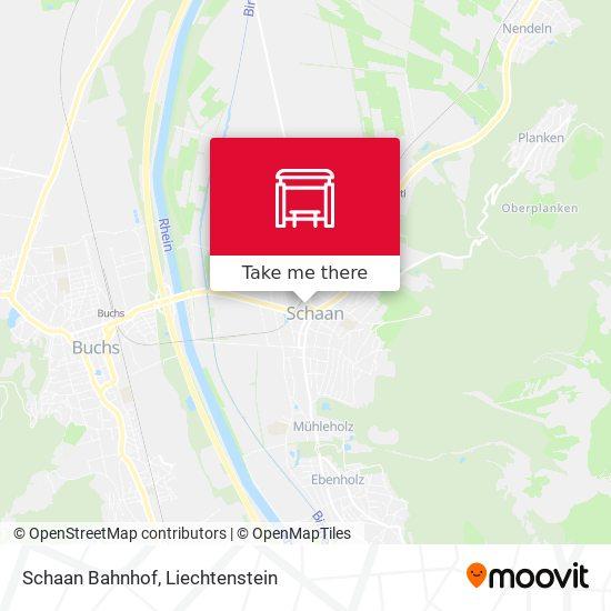 Schaan Bahnhof map