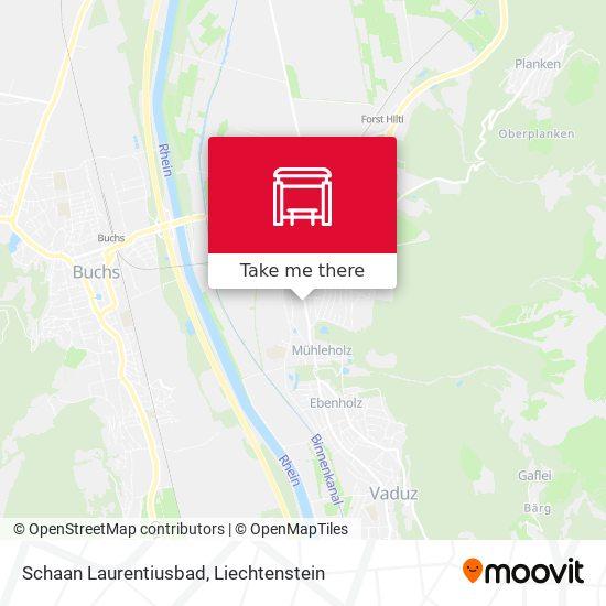 Schaan Laurentiusbad map