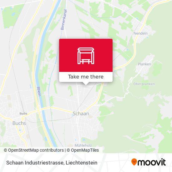 Schaan Industriestrasse map