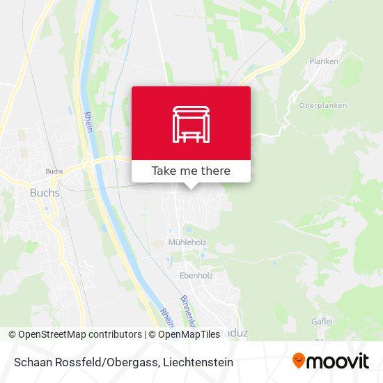 Schaan Rossfeld/Obergass map