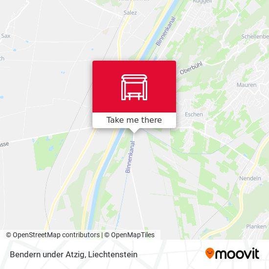 Bendern under Atzig map