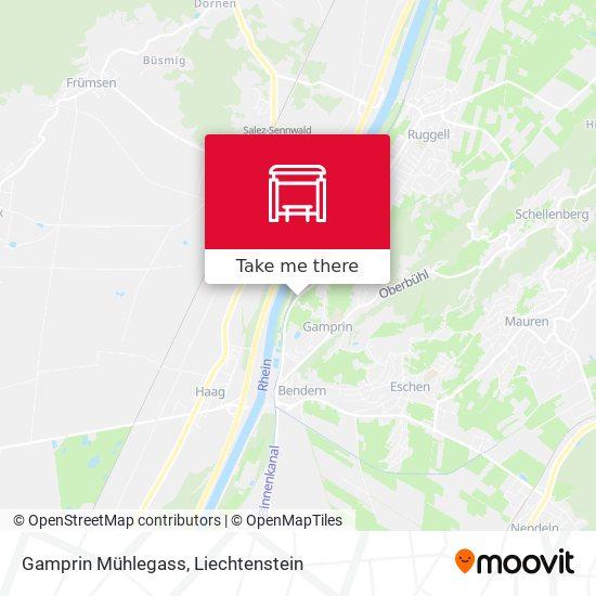 Gamprin Mühlegass map