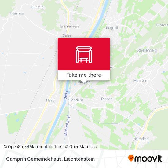 Gamprin Gemeindehaus map