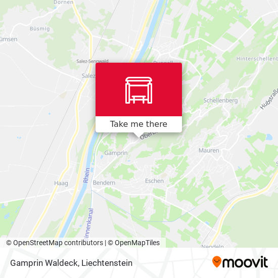 Gamprin Waldeck map