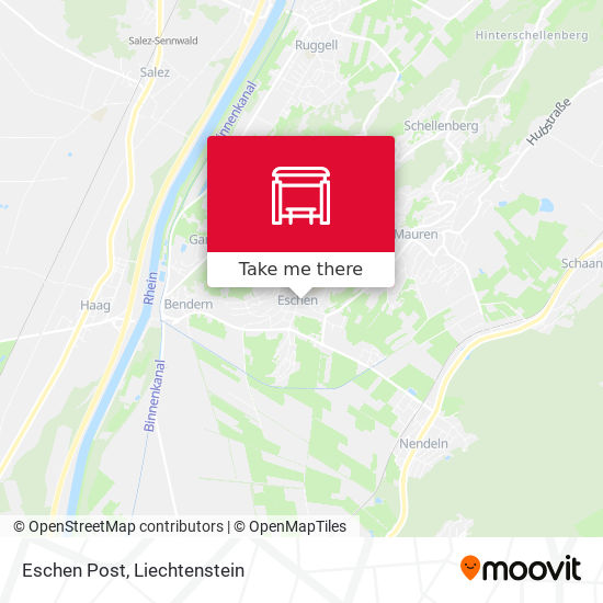 Eschen Post map