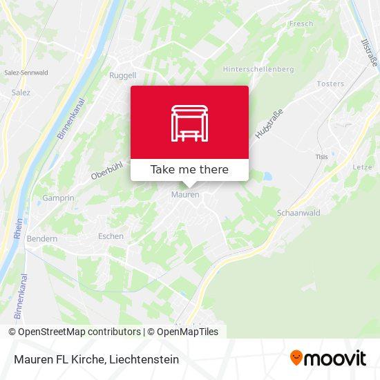 Mauren FL Kirche map