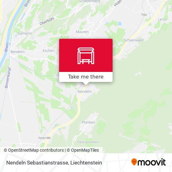 Nendeln Sebastianstrasse map