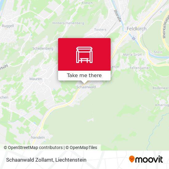 Schaanwald Zollamt map