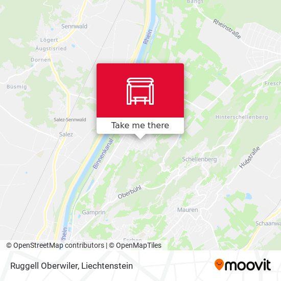 Ruggell Oberwiler map