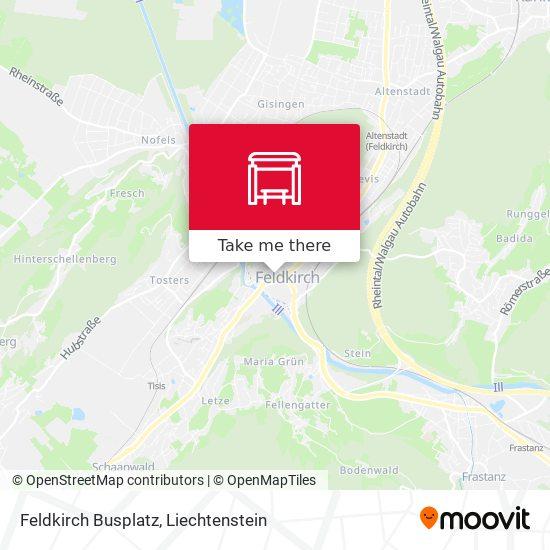 Feldkirch Busplatz map