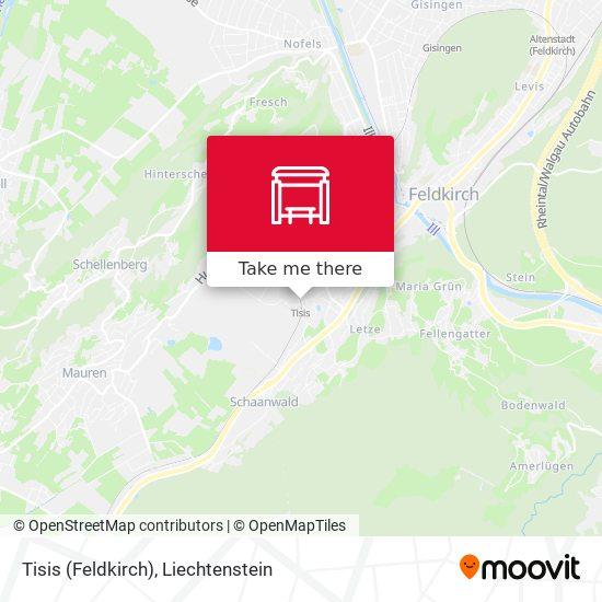 Tisis (Feldkirch) map