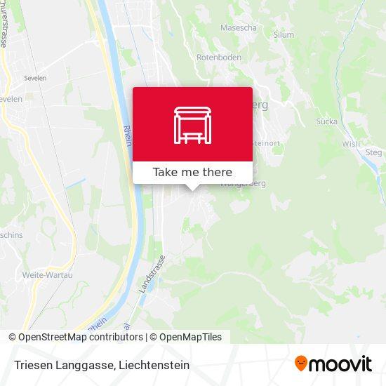 Triesen Langgasse map