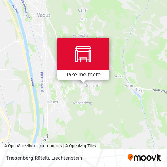 Triesenberg Rütelti map