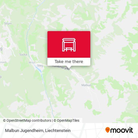 Malbun Jugendheim map